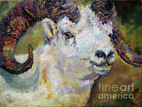 Ginette Callaway - Dall Sheep Ram Oil Painting