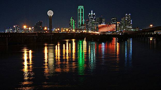 Dallas at Night by Kathy Churchman