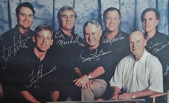 Dallas Cowboys Past Quarterbacks and Coach Tom Landry by Donna Wilson
