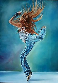 Dancer in oils  by Kim McWhinnie
