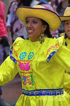 Dancer In The Pase Del Nino Parade IV by Al Bourassa