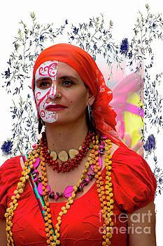 Dancer In The Pase Del Nino Parade V by Al Bourassa