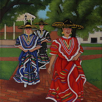 Dancers in Old Town by Gayle Faucette Wisbon