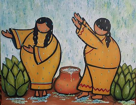 Dancers in the rain by Yovannah Diovanti
