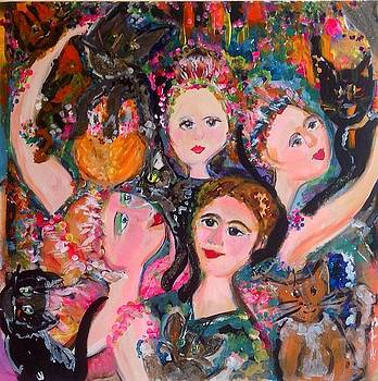 Dancers With Cats  by Judith Desrosiers