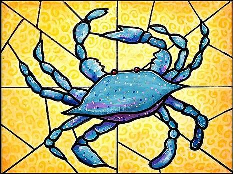 Dancing Blue Crab 4 by Jim Harris