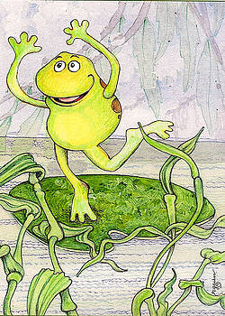 Dancing frog by Rose Gauss