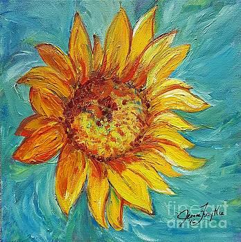 Dancing Sunflower  by Jeanne Forsythe