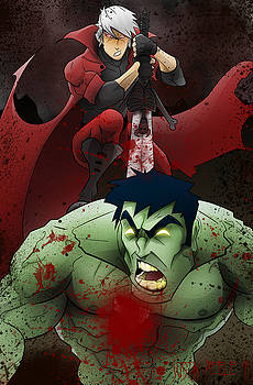 Dante vs. The Hulk by Justin Peele