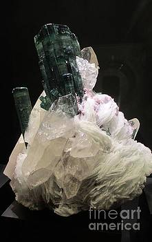 Dark Green gemstone on white base by Barbara Yearty