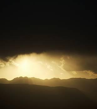 Dark Mountainous Sunset by Nikki McInnes