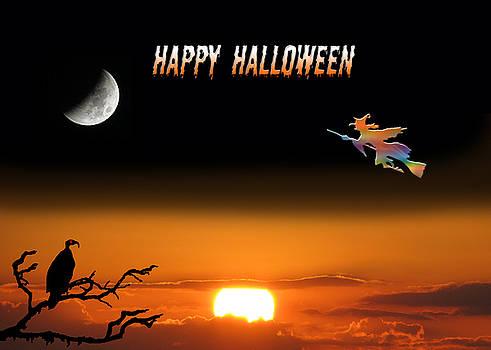 Dark Night Halloween Card by Adele Moscaritolo
