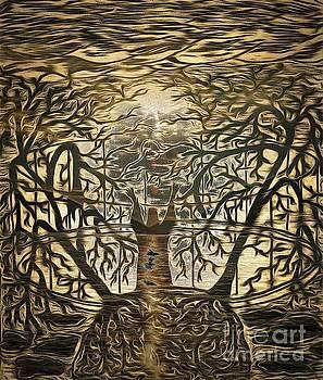 Dark sunset by Yury Bashkin
