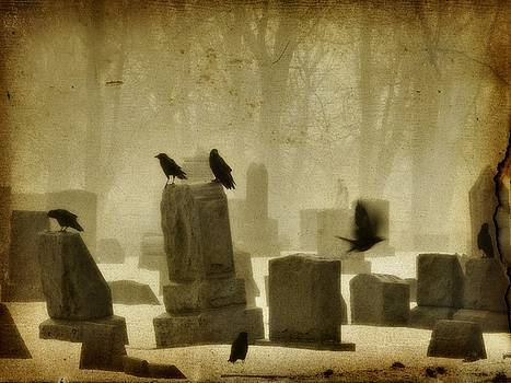 Dark Winter Graveyard by Gothicrow Images