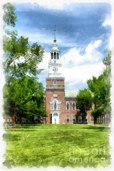 Edward Fielding - Dartmouth College Watercolor