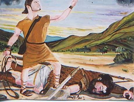 David And Goliath by Patrick Desenclos