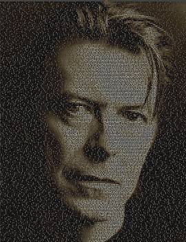 David Bowie Song List Mosaic by Paul Van Scott