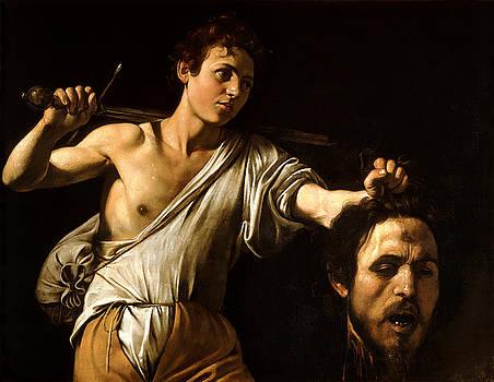 David Showing Goliath's Head by Caravaggio