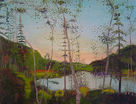 Dawn by the Pond by Lilibeth Andre