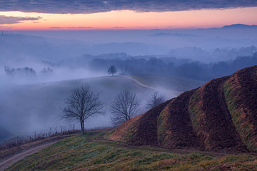 Dawn on the hills by Davorin Mance