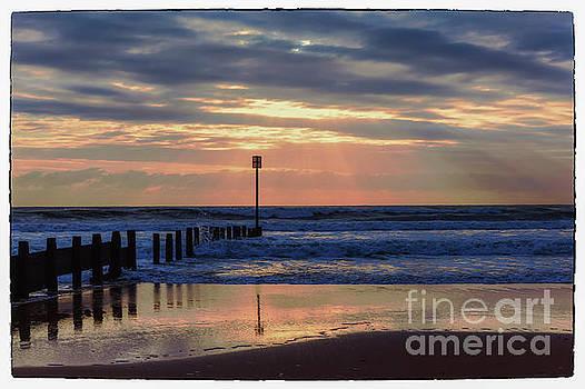 Dawn over Blyth Beach by John Cox