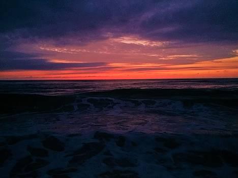 Dawn with surf by Julianne Felton