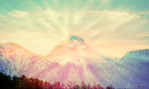 Dawn's Wonder Glow on My Mountain Muse by Anastasia Savage Ealy