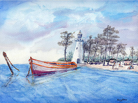 Barry Jones - Day On The Island - Coastal Watercolor