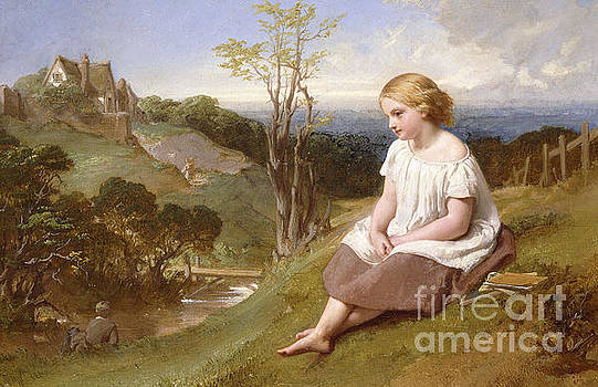 Daydreaming on the River Bank by Henry Lejeune