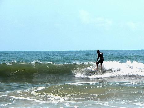 Daytona Beach Surfer  by Chris Mercer