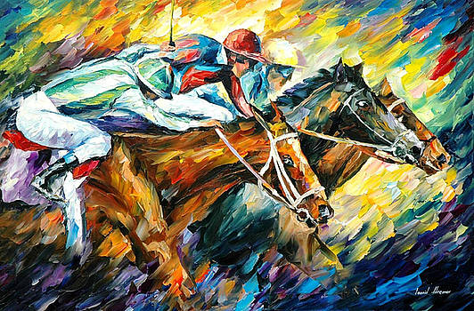 Dead Heat - PALETTE KNIFE Oil Painting On Canvas By Leonid Afremov by Leonid Afremov