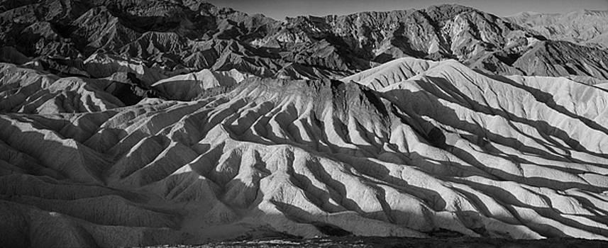 Death Valley Erosion B W by Steve Gadomski