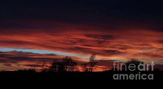 December 2016 Farm Sunset by J L Zarek