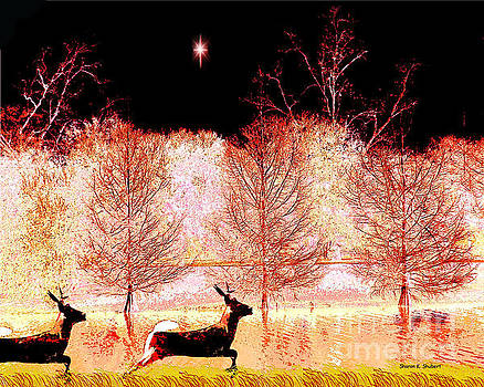 December Reindeer by Sharon K Shubert