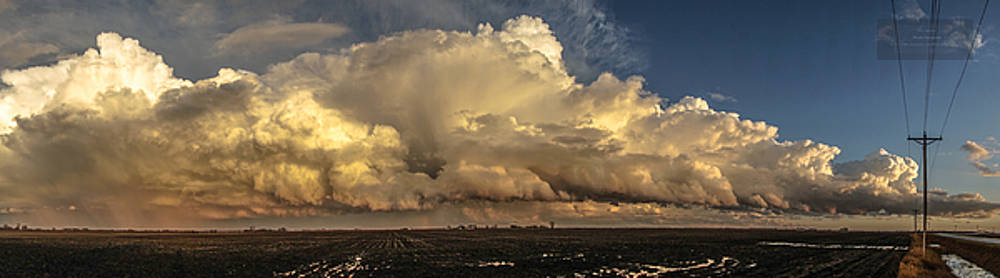 December Thunderstorm Pano by Paul Brooks