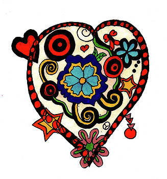 Decorated Heart by Christine Perry