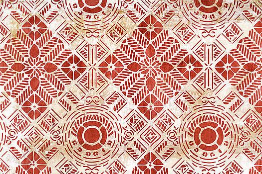 Frank Tschakert - Decorative Vintage Pattern Sanguine Red