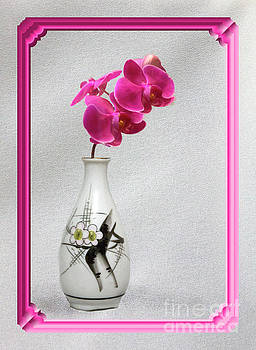 Deep Pink  Orchids by Linda Phelps