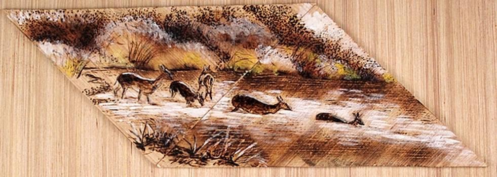 Deer Crossing by Richard Jules