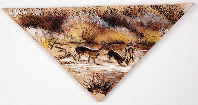 Deer Crossing Two by Richard Jules