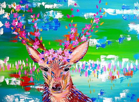 Deer Print by Cathy Jacobs