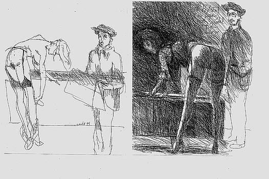 Degas Sketching Model, Homage to Degas  by Harry WEISBURD