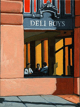 Deli Boys - Cafe by Linda Apple