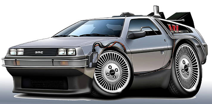 Delorean Back to the Future by Maddmax