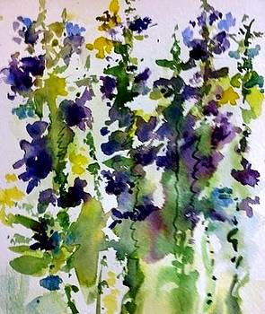 Delphiniums Oh by Donna Eaton