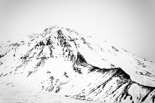 Denali - Chiseled Mountain BW by Mary Carol Story