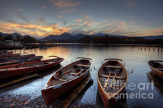 Derwent Water Rowing Boats by Martin Williams