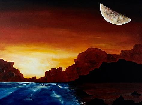 Desert Sun on the Water by Julee Nicklaus