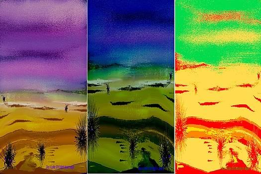 Desert. Tripttych by Dr Loifer Vladimir
