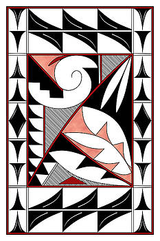 Southwest Collection - Design Four in Red by Tim Hightower